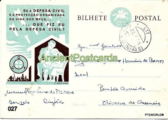 Bilhete Postal PT027/58 - Defesa Civil