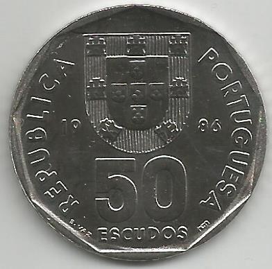 Portugal PT5001986 50 Escudos 1986