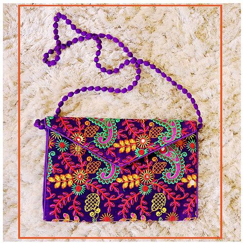 Handmade embroidered Afghan rectangular bag