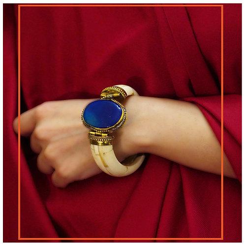 Camel Bone Lapis Gypsy Bracelet