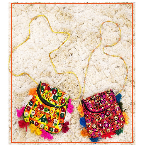 Handmade Pouch bag Boho Chic style