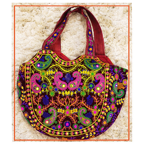 Colorful traditional Embroidered Women Bag