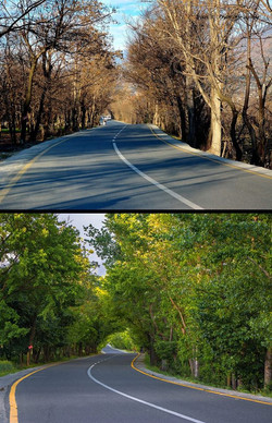 Road in Swat Valley during Autumn and Spring