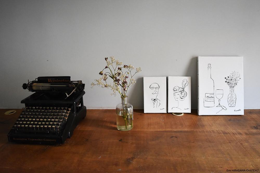 「モンマルトルの家」内で展示されている九重さんの作品