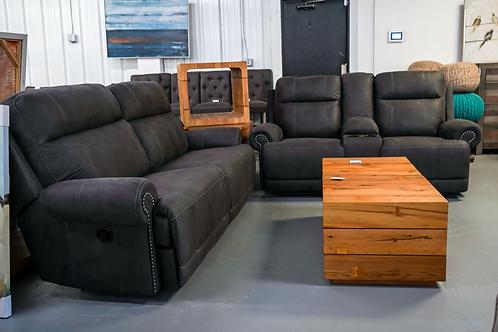 Gray Double Reclining Sofa