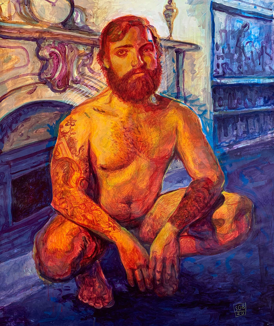 Squatting Man with a Beard (Scott G. Brooks)
