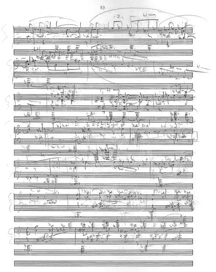 From Sombre Lands score excerpt by Peter Dayton
