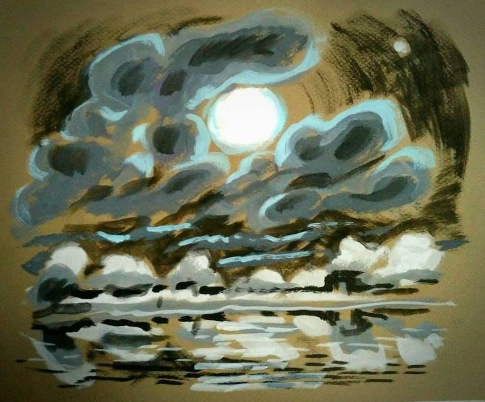 Full Moon Over Reservoir