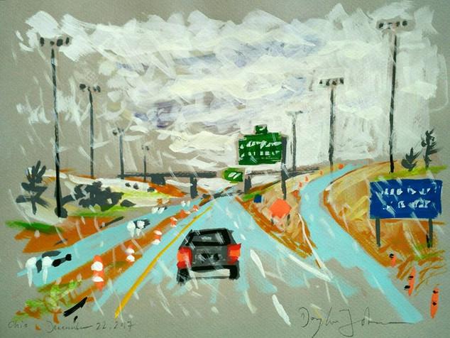 Flurries, I-71 South, Ohio.