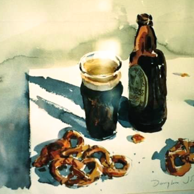 Guiness and Pretzels