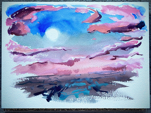 Muggy Moonset