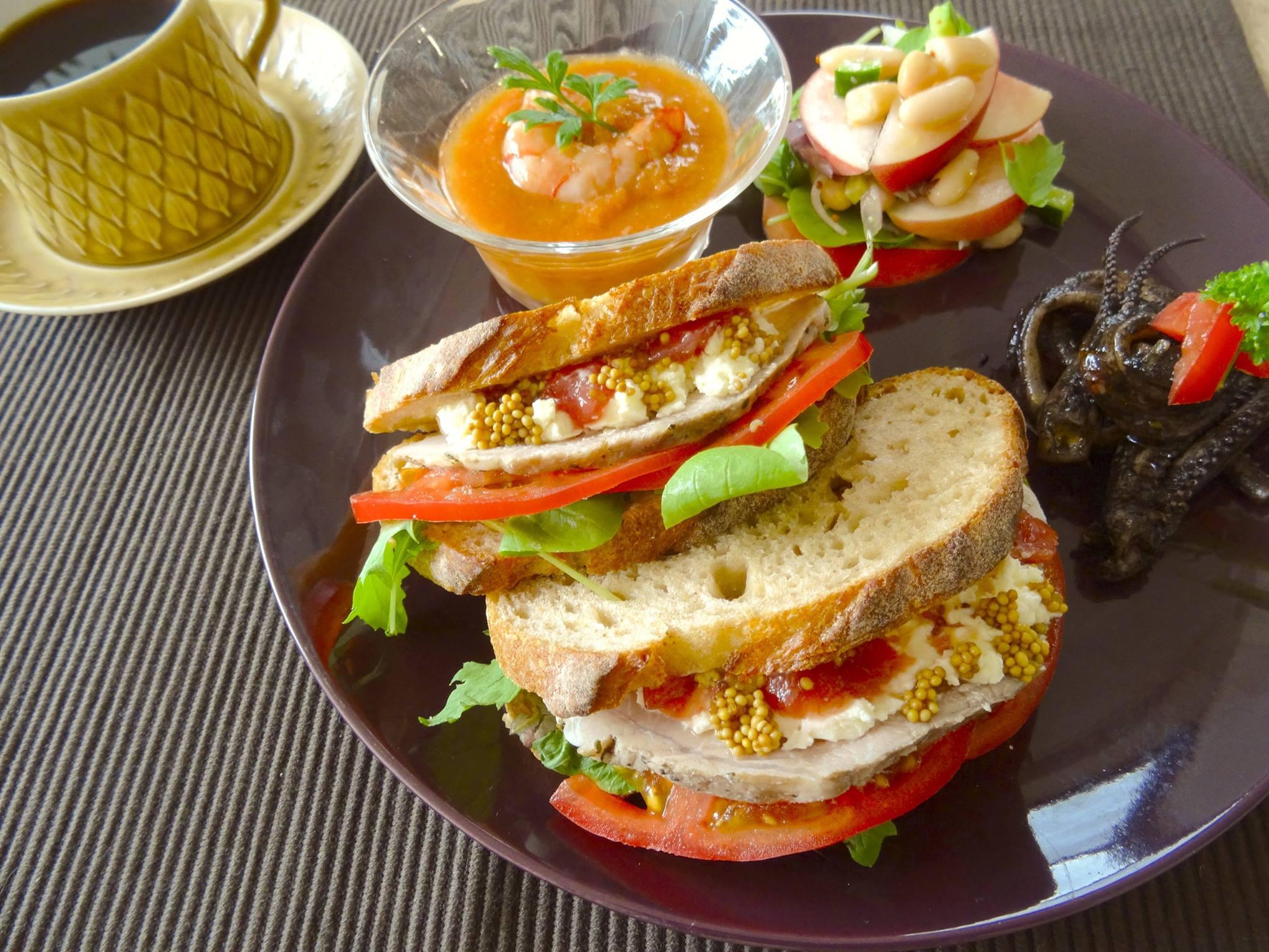 curryも好きですが、sandwichも大好物です。