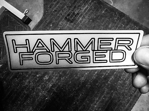 Hammer Forged Stickers