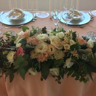 Grinalda mesa dos noivos