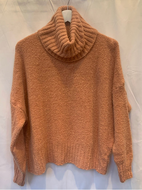 THELMA TURTLENECK SWEATER ROSE