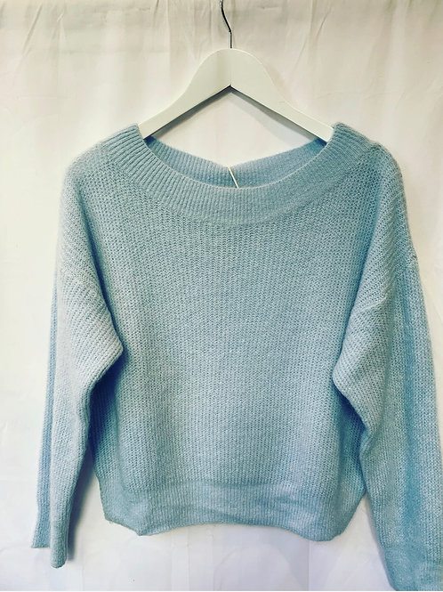 MILA BOATNECK SWEATER BABY BLUE