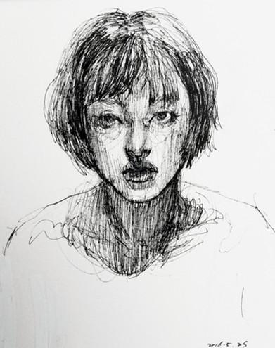 Self-Portrait pen on paper