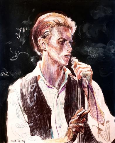 David Bowie pen on paper
