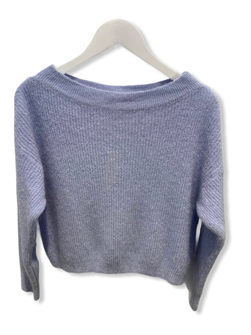 MILA BOATNECK KNITTED SWEATER BLUE SKY