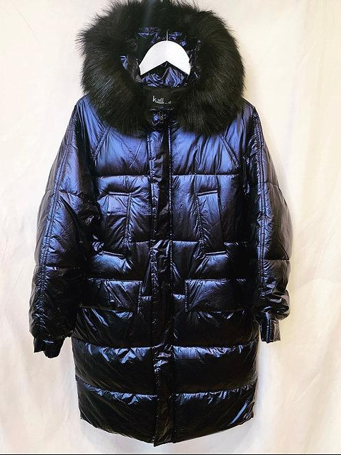 ROXY LONG PUFFER COAT BLUE