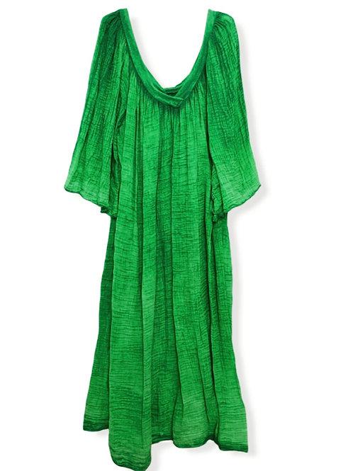 MARY TETRA DRESS GREEN