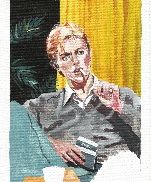 David Bowie acrylic on canvas