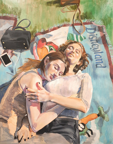 Dear Erin and Jess oil on canvas, 103cm x 80cm