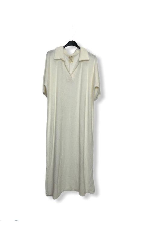 EVE TERRY DRESS WHITE