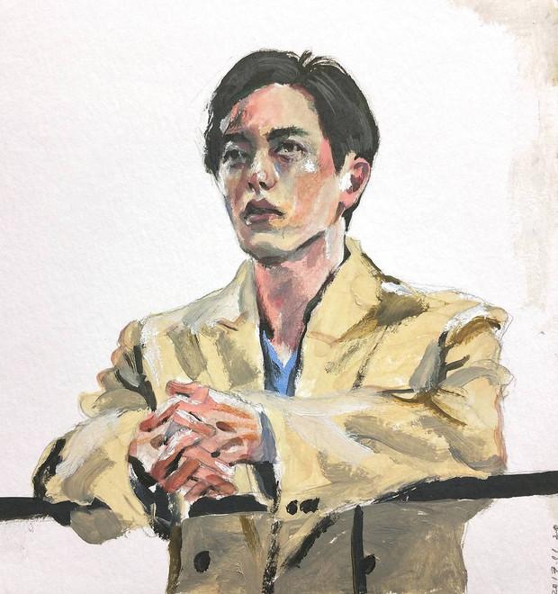 Jaeuck Kim oil on paper
