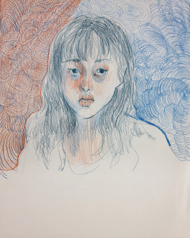 Self-Portrait colored pencil on paper