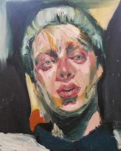 🔴Paul oil stick on canvas panel