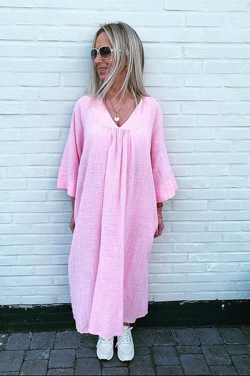 LIV COTTON DRESS BABY PINK
