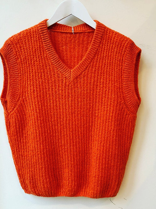 V-NECK DEBARDEUR SOFT ORANGE
