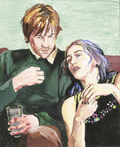 🔴 Joel and Clementine of Eternal Sunshine of the Spotless Mind acrylic on canvas