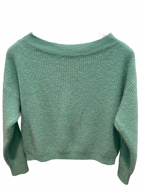 MILA BOATNECK KNITTED SWEATER PASTEL MINT