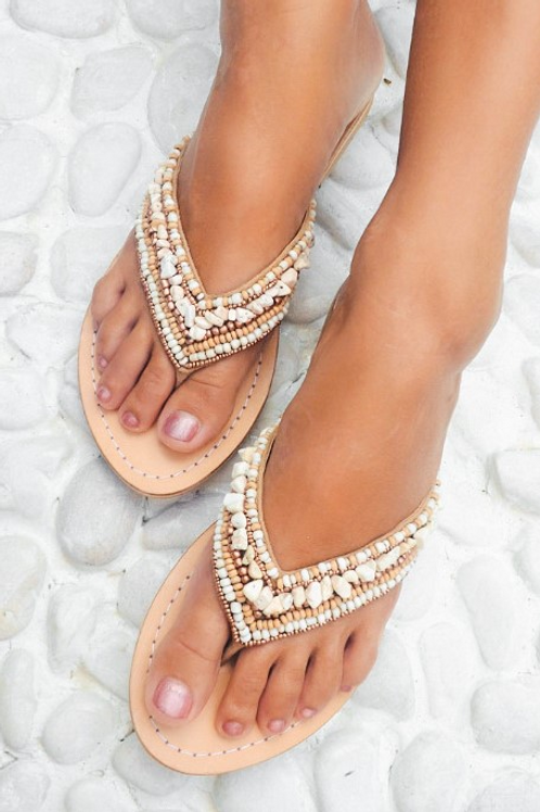 THONG INDY SLIPPERS IVORY