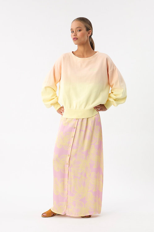MAXI SKIRT PASTEL FLOWER YELLOW