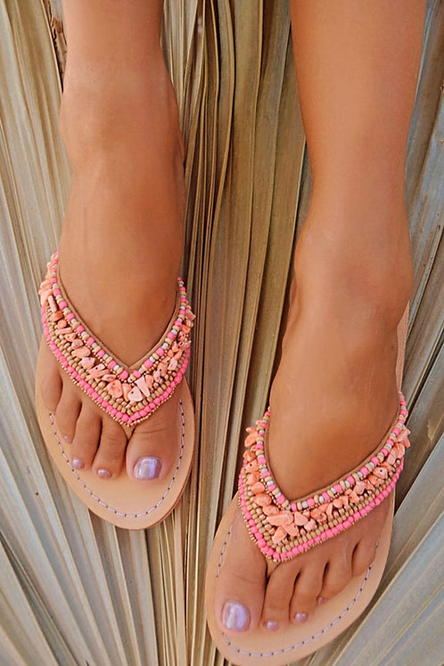 THONG INDY SLIPPERS CORAL