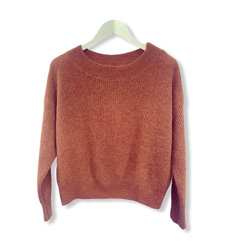 MILA BOATNECK KNITTED SWEATER DUSTY PINK