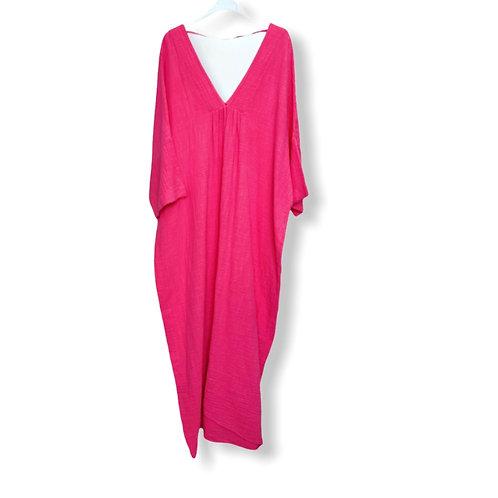 ROMY COTTON DRESS FUCHSIA