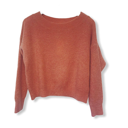 MILA BOATNECK KNITTED SWEATER SWEET SALMON