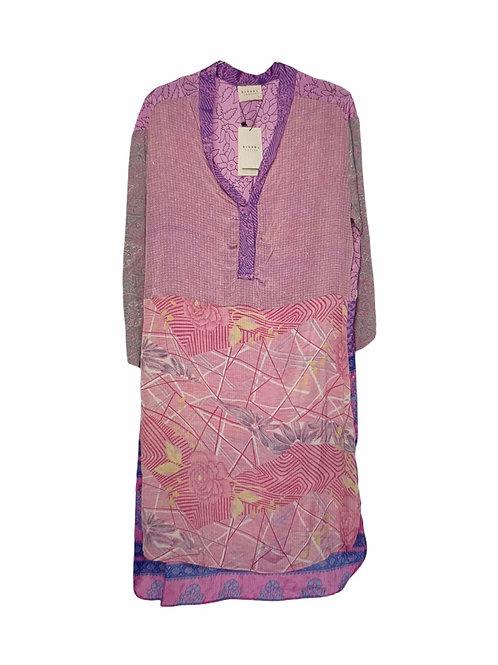 FLEUR DE LIS MIX CAFTAN DRESS 496