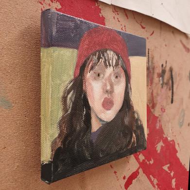 Self-Portrait oil on canvas 10cm x 10cm