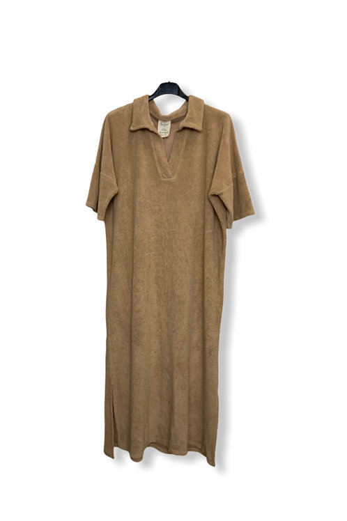 EVE TERRY DRESS CAMEL