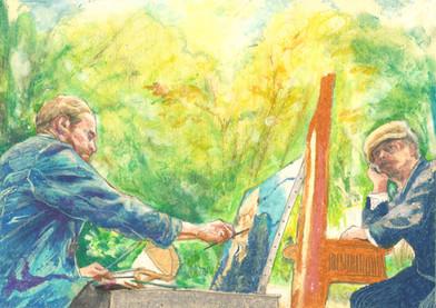 At Eternity's Gate oil pastel on paper 14.8cm x 21cm