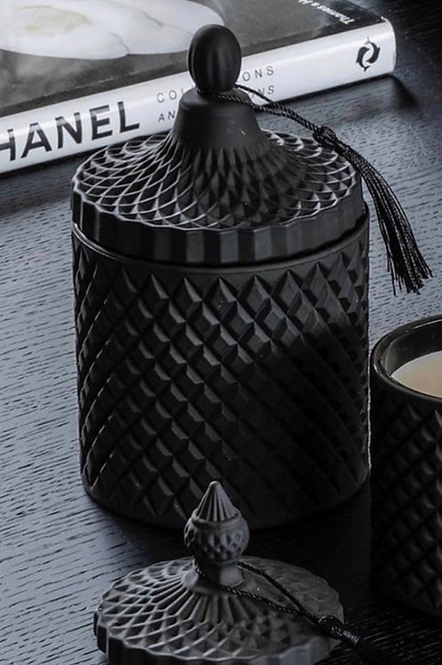 BAMBOO HANDMADE CANDLE  BLACK 500ML