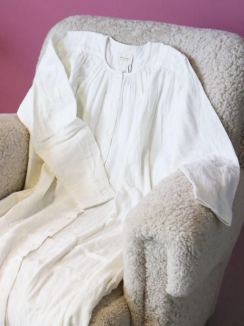 BRAVE ORGANIC COTTON DRESS WHITE