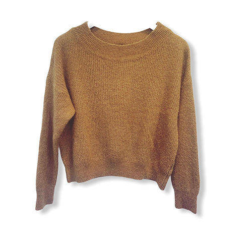 MILA BOATNECK KNITTED SWEATER CAMEL