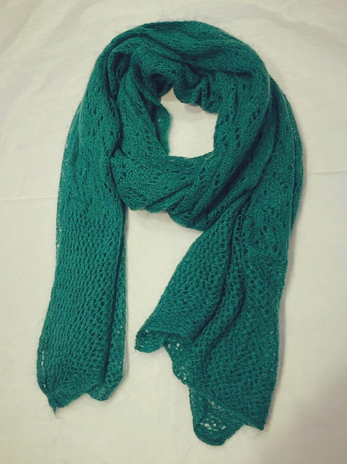 AUDREY SCARF PINE GREEN
