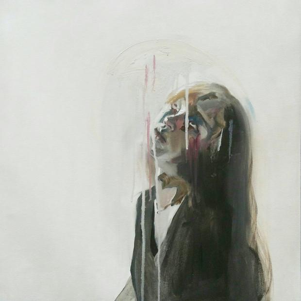 Self-Portrait oil on canvas, 60cm x 60cm